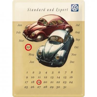 """Blechschild Kalender """"VW Beetle Duo"""" Nostalgic Art"""