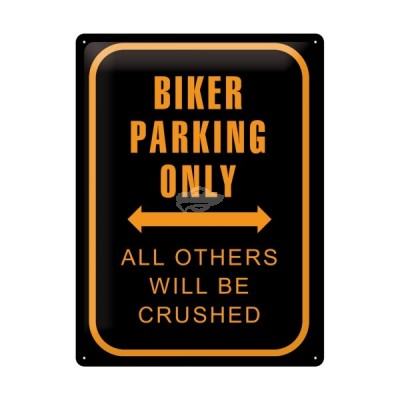 "Blechschild ""Biker Parking Only"" Nostalgic Art"