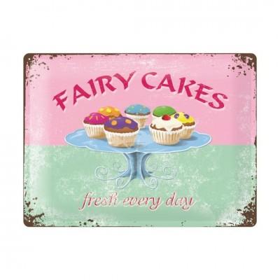 """Blechschild """"Fairy Cakes"""" Nostalgic Art"""