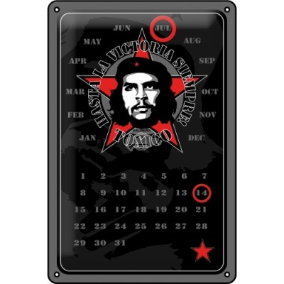 "Blechschild Kalender ""Che Guevara"" Nostalgic Art"