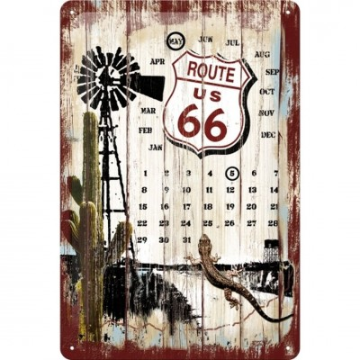 """Blechschild Kalender """"Route 66 - Desert"""" Nostalgic Art-Auslaufartikel"""