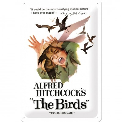"Blechschild ""Alfred Hitchcocks - The Birds"" Nostalgic Art"