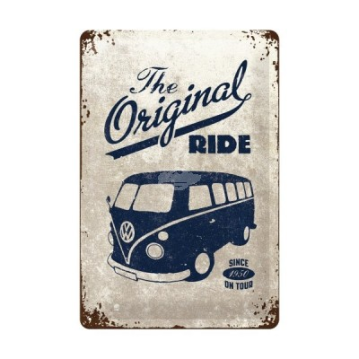"Blechschild ""VW Bulli - ride"" Nostalgic Art"