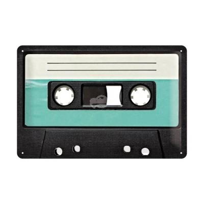 """Blechschild """"Retro Cassette"""" Nostalgic Art"""