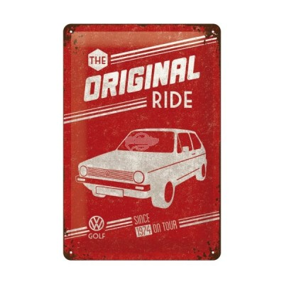 "Blechschild ""VW Golf- The Ride"" Nostalgic Art"