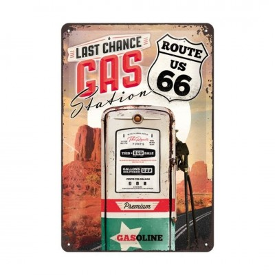 "Blechschild ""Route 66 - Gas Station"" Nostalgic Art"