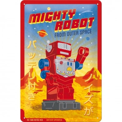 "Blechschild ""Mighty Robot"" Nostalgic Art"