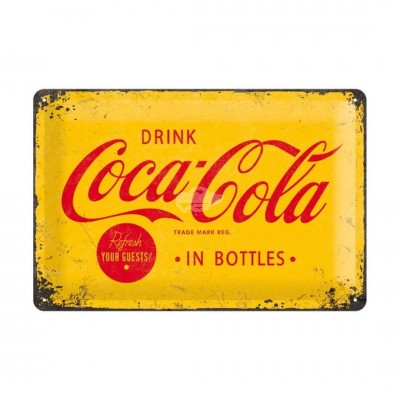 "Blechschild ""Logo Yellow - Coca Cola"" Nostalgic Art"