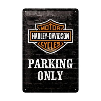 "Blechschild ""Harley Parking Only"" Nostalgic Art"