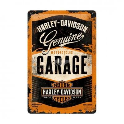 """Blechschild """"Garage – Harley Davidson"""" Nostalgic Art"""