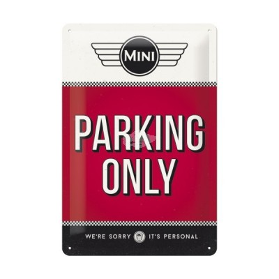 "Blechschild ""Parking Only Red – Mini"" Nostalgic Art"