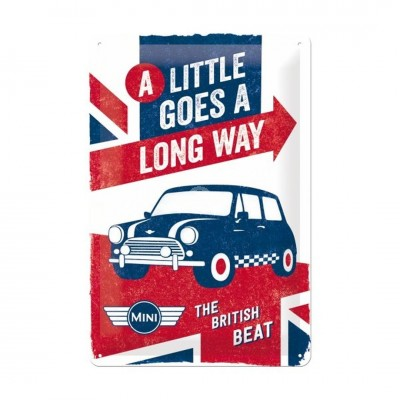 "Blechschild ""A Little Goes A Long Way – Mini"" Nostalgic Art"