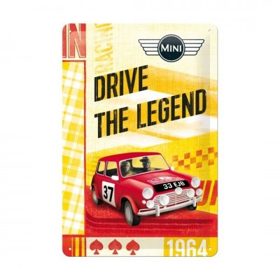 "Blechschild ""Drive the Legend – Mini"" Nostalgic Art"
