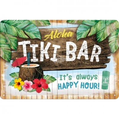 "Blechschild ""Tiki Bar"" Nostalgic Art"