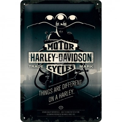 "Blechschild ""Harley-Davidson Things Are Different"" Nostalgic Art"