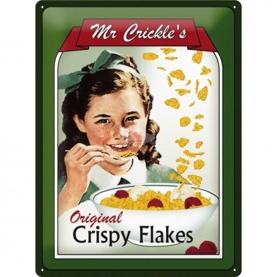 "Blechschild ""Mr. Crickles Crispy Flakes"" Nostalgic Art"