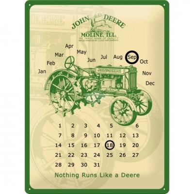 "Blechschild Kalender ""John Deere - Genuine"" Nostalgic Art-Auslaufartikel"