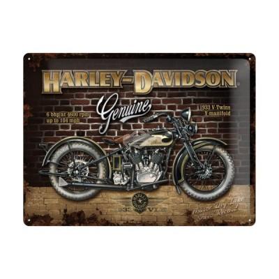 "Blechschild ""Harley Davidson - Brick Wall"" Nostalgic Art"