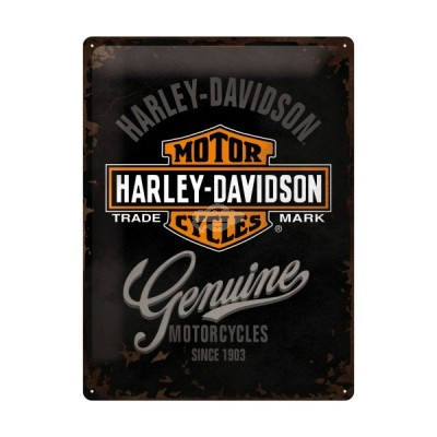 "Blechschild ""Harley Davidson - Genuine"" Nostalgic Art"
