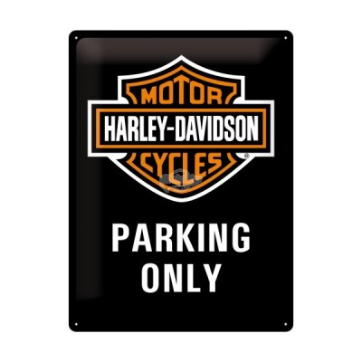 "Blechschild ""Harley Davidson - Parking only"" Nostalgic Art"