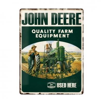"""Blechschild """"John Deere - Quality Farm"""" Nostalgic Art"""