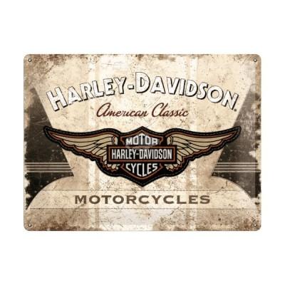 "Blechschild ""Harley Davidson - American Classic Logo"" Nostalgic Art"