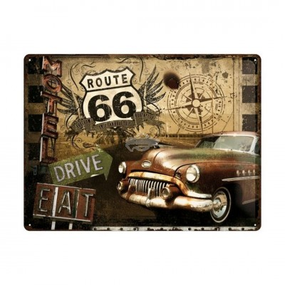 "Blechschild ""Road Trip - Route 66"" Nostalgic Art"