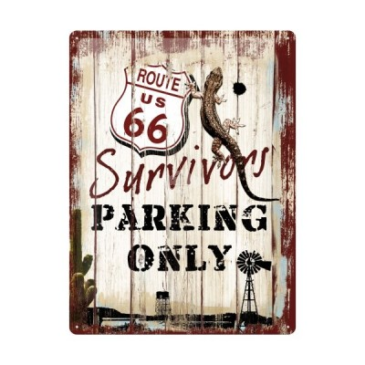 "Blechschild ""Survivors Parking Only - Route 66"" Nostalgic Art"