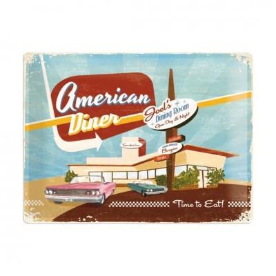"Blechschild ""American Diner"" Nostalgic Art-Auslaufartikel"