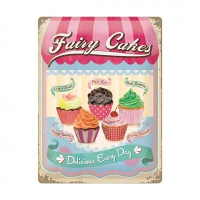 "Blechschild ""Fairy Cakes - Cup Cakes"" Nostalgic Art"