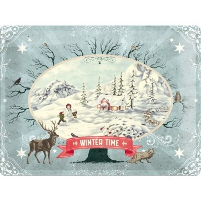 "Blechschild ""Winter Time - Scenery"" Nostalgic Art-Auslaufartikel"