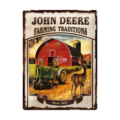 "Blechschild ""John Deere -Farming"" Nostalgic Art"