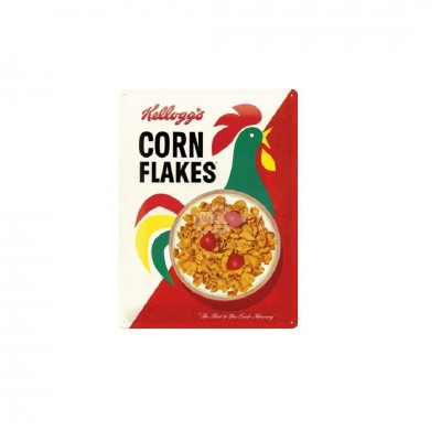 "Blechschild ""Corn Flakes - Kelloggs"" Nostalgic Art-Auslaufartikel"