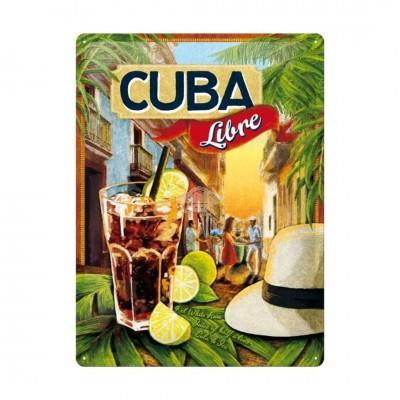 """Blechschild """"Cuba Libre"""" Nostalgic Art"""