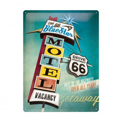 "Blechschild ""Route 66 - The blue"" Nostalgic Art"