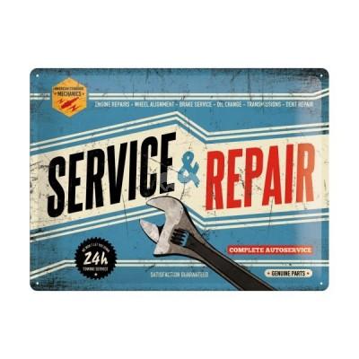 """Blechschild """"Service & Repair"""" Nostalgic Art"""