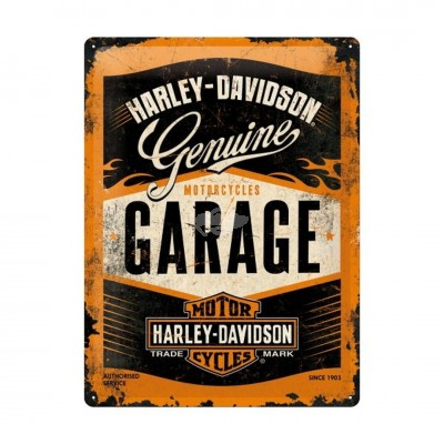 """Blechschild """"Harley Davidson - Garage"""" Nostalgic Art"""