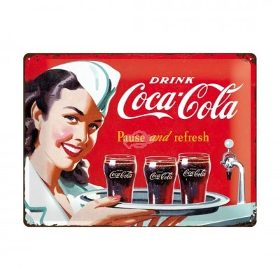 "Blechschild ""Waitress - Coca Cola"" Nostalgic Art"