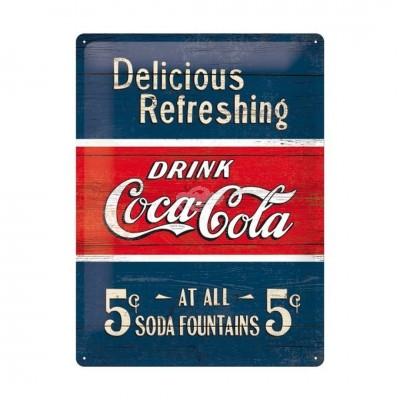 """Blechschild """"Delicious - Coca Cola"""" Nostalgic Art"""