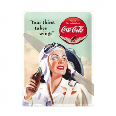 "Blechschild ""Take Wings - Coca Cola"" Nostalgic Art"
