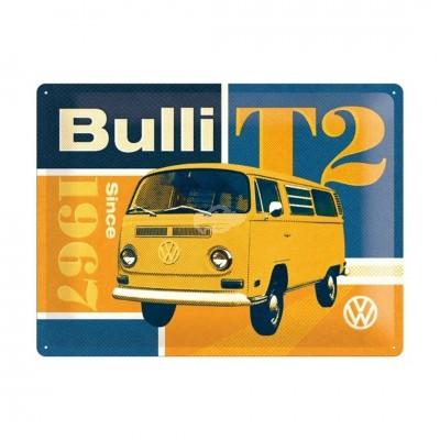 """Blechschild """"Volkswagen VW T2 Bulli"""" Nostalgic Art"""