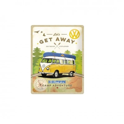 "Blechschild ""VW Bulli - Lets Get Away"" Nostalgic Art"