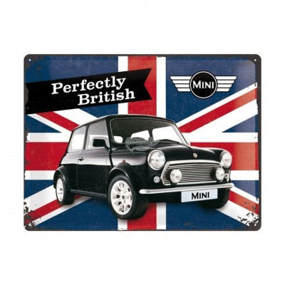 "Blechschild ""Perfectly British – Mini"" Nostalgic Art"