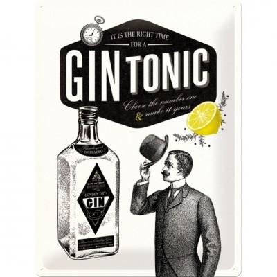 """Blechschild """"Gin Tonic"""" Nostalgic Art"""