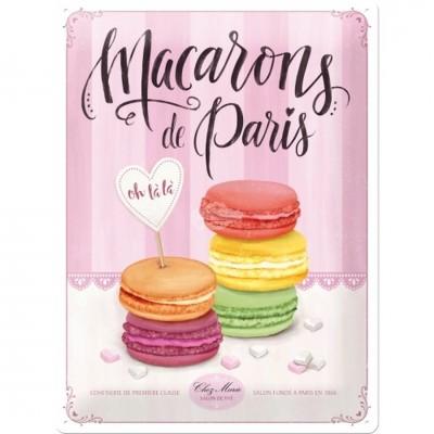 """Blechschild """"Macarons"""" Nostalgic Art"""