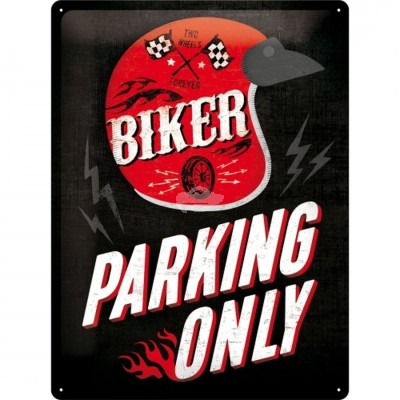 "Blechschild ""Best Garage Biker Parking Only - Helmet"" Nostalgic Art"