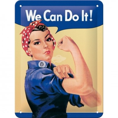 "Blechschild ""We can do it"" Nostalgic Art"