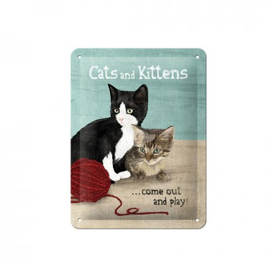 "Blechschild ""Cats and Kittens"" Nostalgic Art"