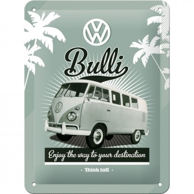 "Blechschild ""VW Bulli - Enjoy"" Nostalgic Art"