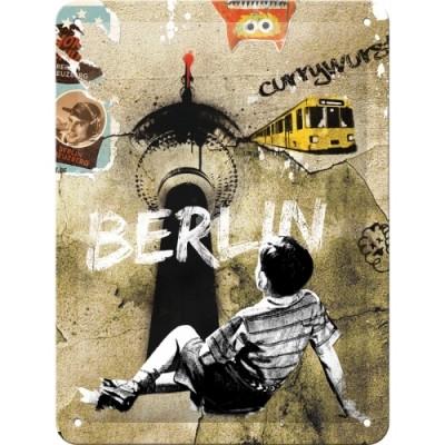 """Blechschild """"Berlin Street Art"""" Nostalgic Art"""